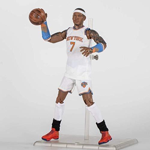 YUEDAI Figura de acción de 22 cm de la Serie NBA 7 Carmelo Anthony Knicks de Nueva York edición Limitada de colección: Figuras de la NBA