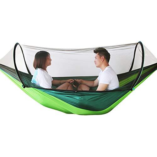 ZRJ des Loisirs Hamac en Plein Air Simple Double Rocking Chair Balançant Parachute Tissu Enfants Dormir Hamac Maison Intérieur Cadeaux (Color : Green)