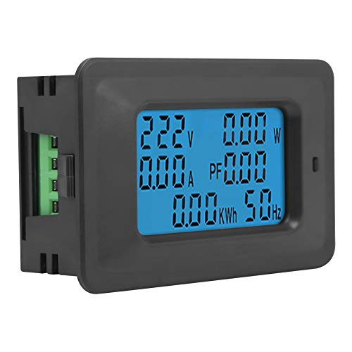 6-in 1 Casa Eléctrica Medidor Panel AC 20 A 110 – 250 V Pantalla Digital Multifunción Energía (W) (actual Ampere Panel) uso Energía kWh Frecuencia Monitor