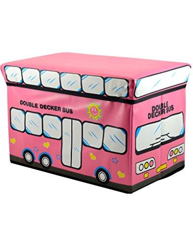 Zitzak voor kinderen, opvouwbaar, voor het opbergen van speelgoed, roze 48 x 31 x 31 cm.
