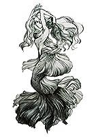 (ファンタジー) THE FANTASY タトゥーシール マーメイド 人魚姫 Mermaid-1【中型・A5】-7種類 (hb827)