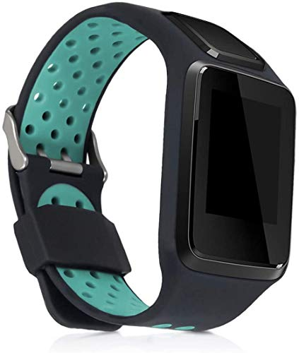 Axcellent Correa de Reloj de Silicona Compatible con Tomtom Adventurer/Runner 3/Spark 3/Golfer 2 - Banda de Seguimiento de Actividad física con Cierre
