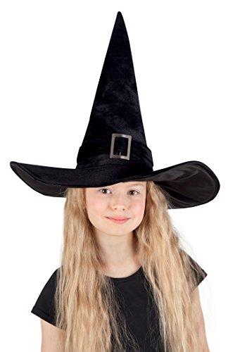 Boland 00157 - Sombrero de Bruja Para Niños, Kendra, Negro, 52-54