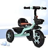 Triciclos Tricycle TRIKE KIDS TICICLE, TRIKE BIKE NIÑOS PEDAL DE PEDAL DE SMART 3 Wheeler, Paseo de niños pequeños en el marco de metal de pedal de 18 meses a 5 años (color: rojo) ( Color : Blue )