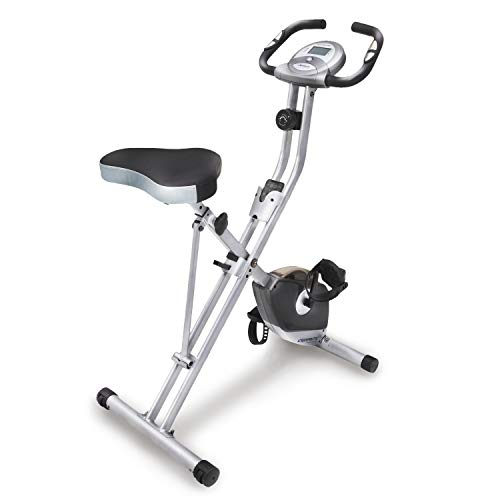 Exerpeutic Folding Magnetic Upright Exercise Bike with Pulse, 31.0' L x 19.0' W x 46.0' H (1200) from Exerpeutic
