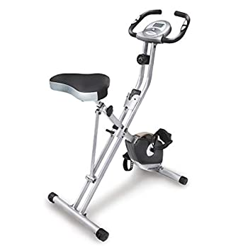 Exerpeutic Folding Magnetic Upright Bike with Pulse – Exercise Bikes