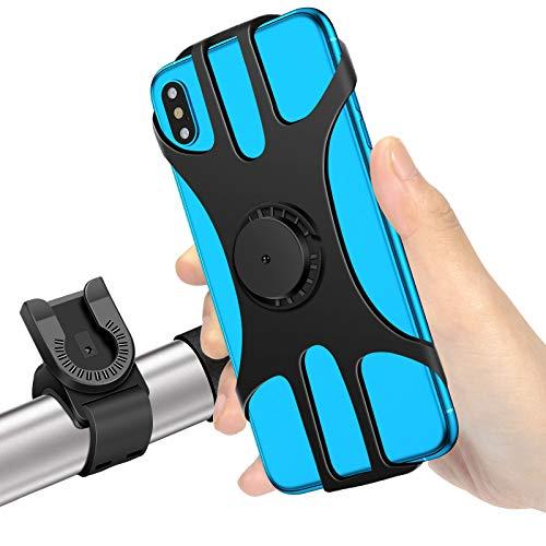 MOSUO Porta Cellulare Bici, Supporto Smartphone per Bici Manubrio MTB Universale 360° Rotabile Telefono Portacellulare Moto Bicicletta e Dispositivi Elettronici per 4.5'-7.0' iPhone Samsung Huawei