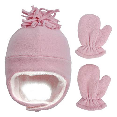 NEWMAN771Her Winter Baby Hut Handschuhe Set Baby Kinder Mütze Hut Mädchen und...
