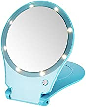 Floxite 5x Magnifying 360 Degree Lighted Home & Travel Mirror