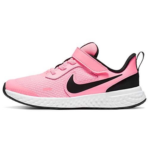 Nike Revolution 5 (PSV), Scarpe da Corsa, Nero Rosa, 33.5 EU