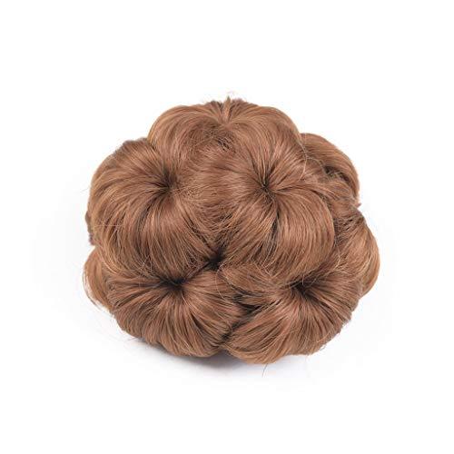 ACRD Chignon Chouchous Cheveux Extension Synthétique Désordonné Chignon pour Femmes Updo Postiche (Couleur : Light Brown)
