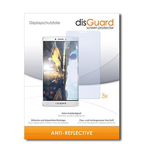 disGuard® Bildschirmschutzfolie [Anti-Reflex] kompatibel mit Oppo R7 Plus [3 Stück] Entspiegelnd, Matt, Antireflektierend, Extrem Kratzfest, Anti-Fingerabdruck - Panzerglas Folie, Schutzfolie