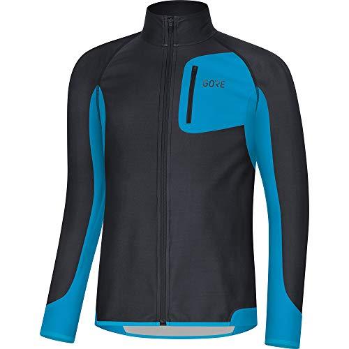 GORE Wear R3 Herren Trikot Partial GORE WINDSTOPPER, M, Schwarz/Blau