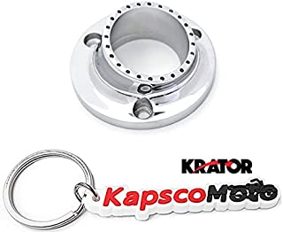 Krator ATV UTV Exhaust Tip Muffler Power Outlet Polished Chrome for Yamaha Bruin 350 Grizzly 660 350 Kodiak 400/450 Rhino 450 660 Wolverine 350/450 + KapscoMoto Keychain