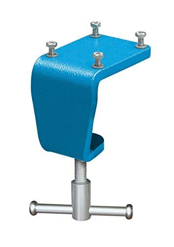 Heuer 119100 Tischklemme, Tischklammer (Schraubstock 100 mm an Arbeitsplatte ohne Bohren befestigen Platz sparend Gewicht 1 kg Tischsstärke 10-60 mm), von, 100