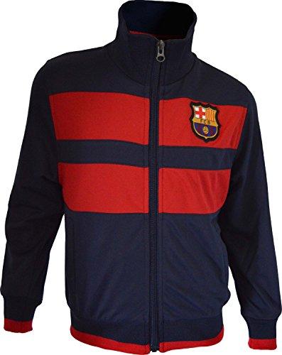 Trainingsjacke mit Reißverschluss Barça, offizielles Produkt von FC Barcelona, Erwachsenengröße, für Herren L marineblau