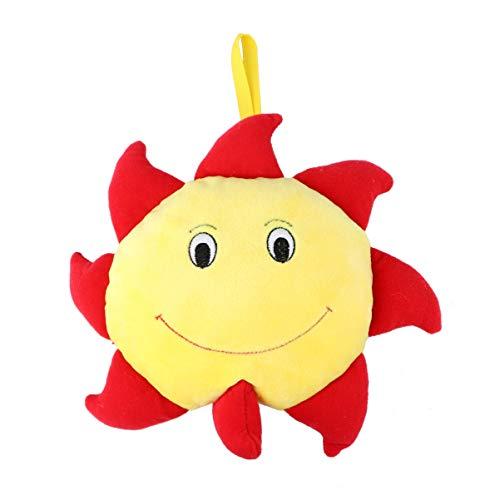 TomaiBaby Cuna de Bebé Juguetes de Peluche Forma de Flor de Sol Sonajeros Musicales Colgantes Juguete Educativo para Recién Nacido Bebé Niño Niña (Amarillo + Rojo)