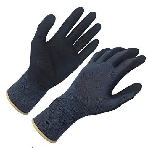 Arbeits Gärtner Handschuhe Arbeitsschutz-Handschuhe, Nitril-Kautschuk beschichtete Handschuhe, Anti-Rutsch-Verschleißschutz for die Handhabung und Wartung, dünner Stretch 12 Paare, 24 Paare (Farbe: Sc