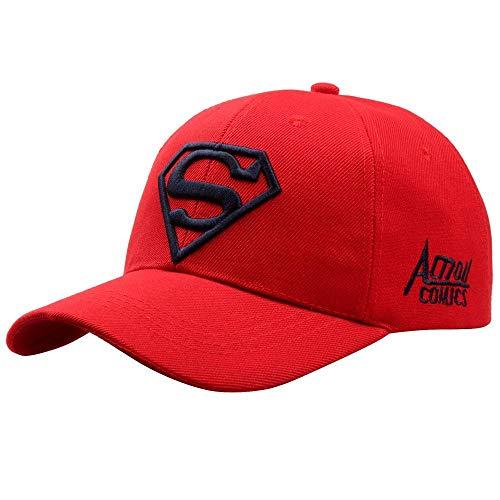 Baseball Kappe Snapback Cap HutBuchstabe Superman Cap Casual Outdoor Sports BestickteBaseballmützen Für Männer Frauen Snapback Hat Für Erwachsene Sun Hats Red