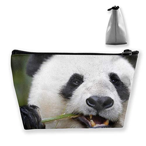 Panda Gigante Comiendo Bolsa de Maquillaje de bambú Bolsa de Viaje de...