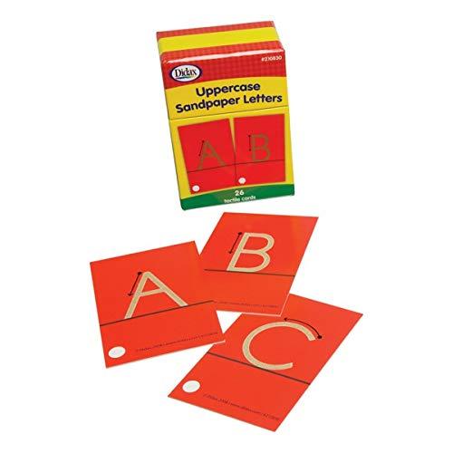 D DOLITY Tableta de Madera Montessori para Aprendizaje Letras Min/úsculas May/úsculas Alfabeto Juguetes Educativo Preescolar para Ni/ños
