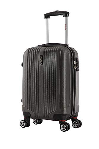InUSA San Francisco 18' Carry-On Hardside Luggage, Charcoal