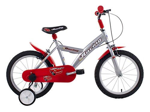 SCHIANO Hot Racing, Bicicletta Bambino, Argento, Taglia Unica