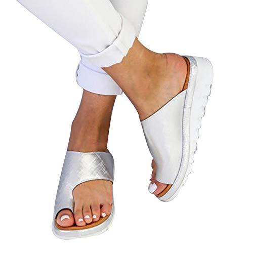 Puimentiua Sandalias y Chanclas Zapatillas de Plataforma Plana de Verano para Mujer EU 35-43