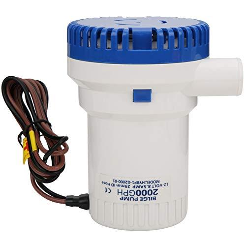 Pompa centrifuga 12V bianco blu, pompa per acque luride, pompa di sentina, per camper Barche da pesca Acqua Attrezzatura da pesca per yacht