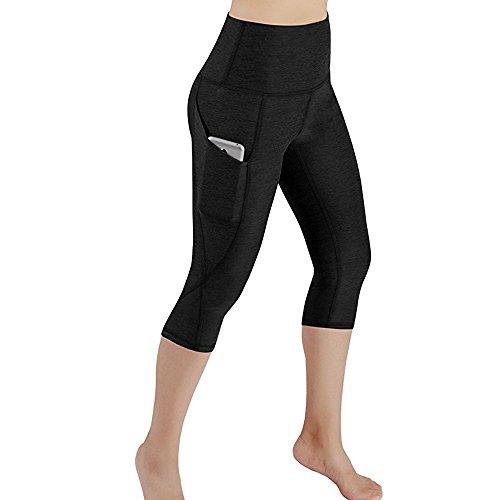 Shinehua yogabroek voor dames, 3/4 yoga, capri, leggings met hoge taille, sportbroek, zomerbroek, fitnessbroek, joggingbroek, hardloopbroek, training, sport, tights met zakje voor mobiele telefoon