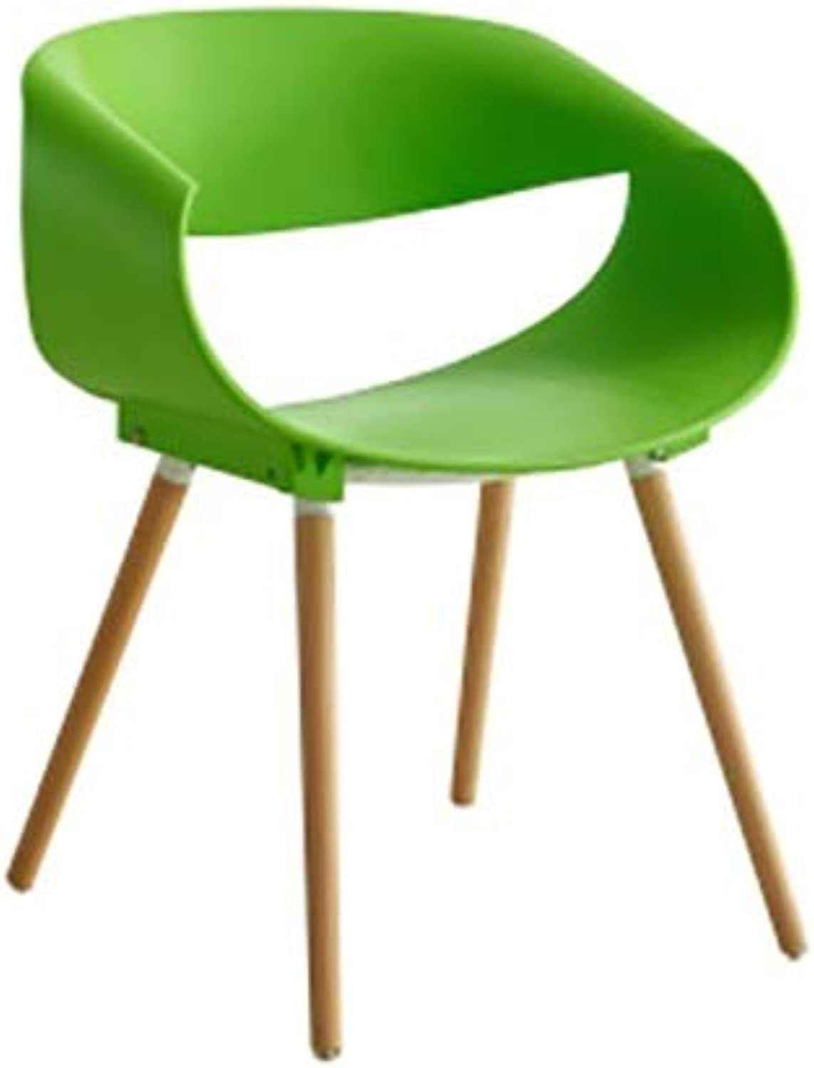 TXXM Barstools Plastic Chair Personality Creative Office to Discuss Reception Chair White Plastic Coffee Shop seat (color   Green)