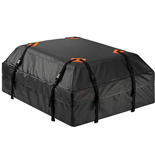 Roof Box Bag For Car Waterproof Storage Bags -Car Roof Bag Cargo Carrier 15 Cubic Feet Waterproof Rooftop Cargo Carrier With 8 Reinforced- Straps