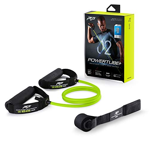 PTP Unisex– Erwachsene Resistance Tube Fitnessband, Lime, 5,5kg