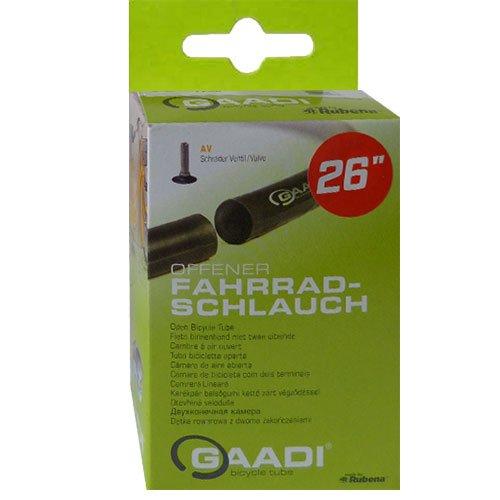 GAADI Fahrrad Schlauch // 26´´ (50-57/559), Ausführung:AV 40 mm, schwarz