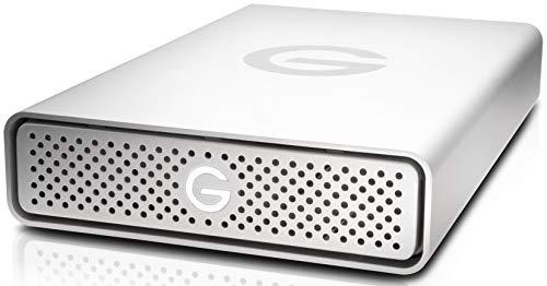 G-Technology G-Drive USB-C externe Festplatte 10 TB (USB-C, 195 MB/s Übertragung, robustes Aluminiumgehäuse, Mac-kompatibel, AppleTimeMachine) Silber