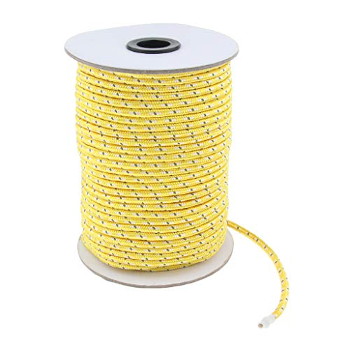 Toygogo Reflektierend Zeltschnur Zelt Seil Abspannleine Leuchtend Paracord für Regenplane, Sonnenschutz - Gelb
