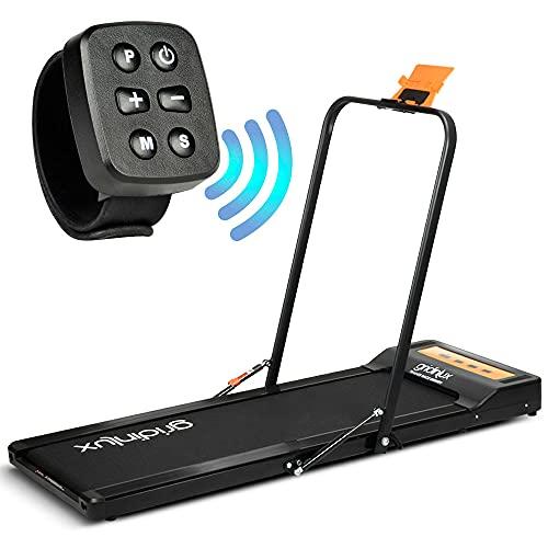 gridinlux | Cinta de Correr y Andar | 1000W | Altavoces Bluetooth | Pulsera Smart de Control | Manillar Plegable | 1-8 km/h | 6 Programas | con Ruedas | Sistema Eco-Sport