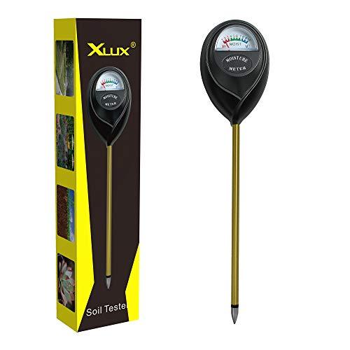 XLUX Medidor de Humedad del Suelo, medidor, medidor de Agua, higrómetro para Plantas de Interior, jardinería, Agricultura, no se requieren baterías