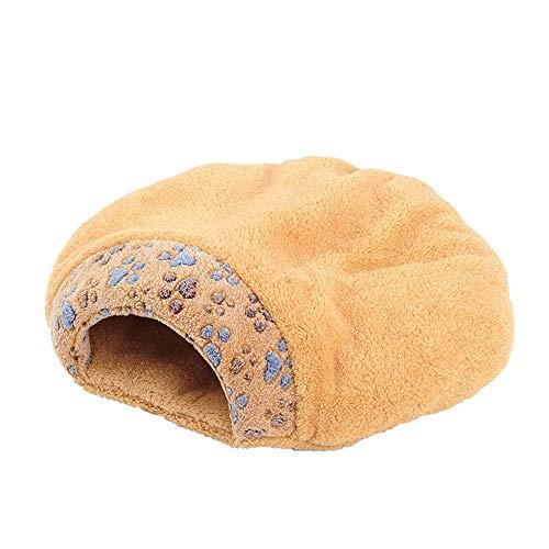 XiuHUa Huisdier Nest Kat Slaapzak Halfgesloten Verwijderbare Wasbare Kattennest Huis Puppy Pet Bed Kennel Winter Mat -55cm / 60cm Huisdier benodigdheden, 60 * 50cm