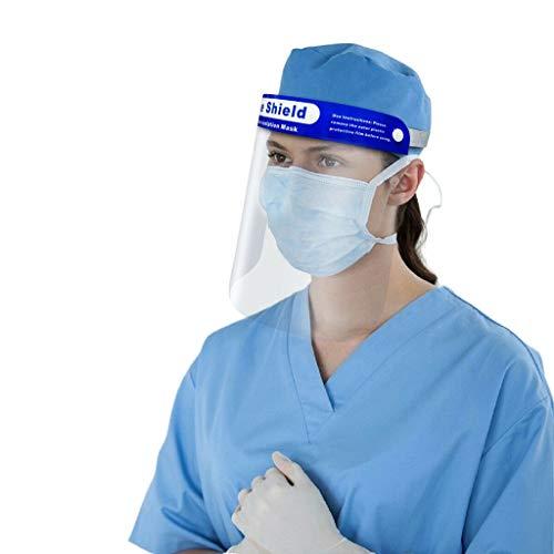 757 5 Pezzi Maschera di Protezione Face_Shield per Adulti e Studenti con schermi antiappannamento sostituibili e pulibili e Occhiali riutilizzabili
