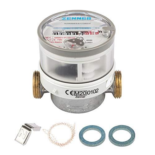 Zenner 145226 Wasserzähler ETWD für Warmwasser Baulänge 80mm
