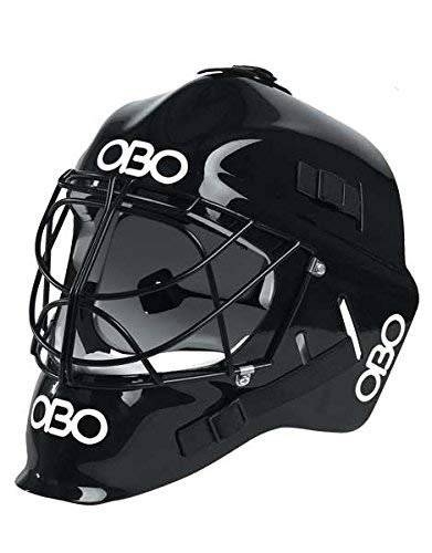 OBO Robo PE Field Hockey Goalie Helmet - Black - Black-M