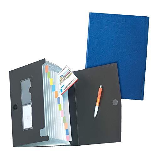 Herlitz 1978048 Fächermappe (A4 PP, 12 Fächer) farbig sortiert