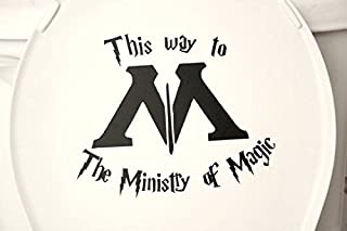 This Way to the Ministry of Magic Funny Harry Potter Decal Sticker for Car Windows Room (5.5