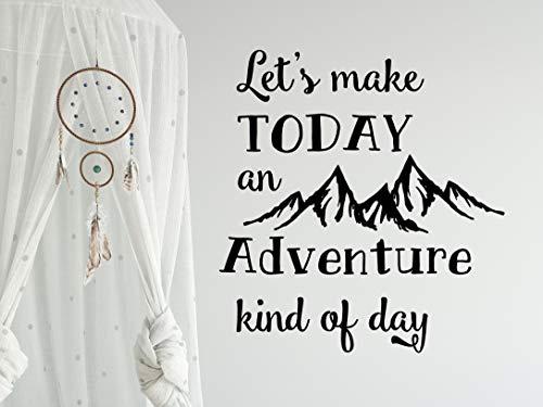 Citaat muursticker laat maken vandaag een avontuur koning van dag berg muur Decals avontuur kwekerij muur Sticker Mountain Decor R141