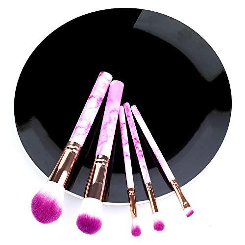 LILONGXI Pinceau De Maquillage,5Pcs Doux Rose Série De Kits Pinceaux Commode pour Surligneur Eye Foundation Poudre Cosmétique Cosmétiques Fard À Sourcils Professionnel