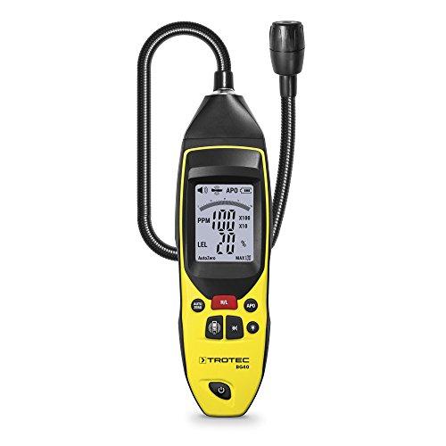 TROTEC Tragbarer Gas-Detektor Messgerät BG40, Melder bei Gasübertritt, Messbereich bis 10.000 ppm