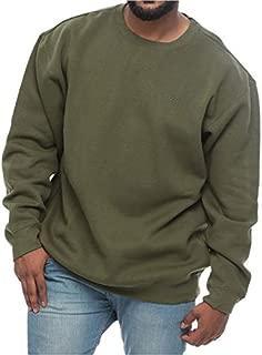 Reebok Logo Big and Tall Fleece Long Sleeve Sweatshirt for Men