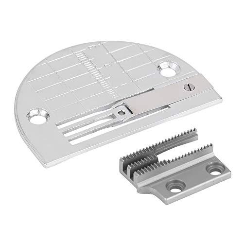 Accesorio para máquina de Coser, 2 Piezas de la máquina de Coser Industrial Accesorios de la Placa de la Aguja Prensatelas con Juego de Dientes Conjunto