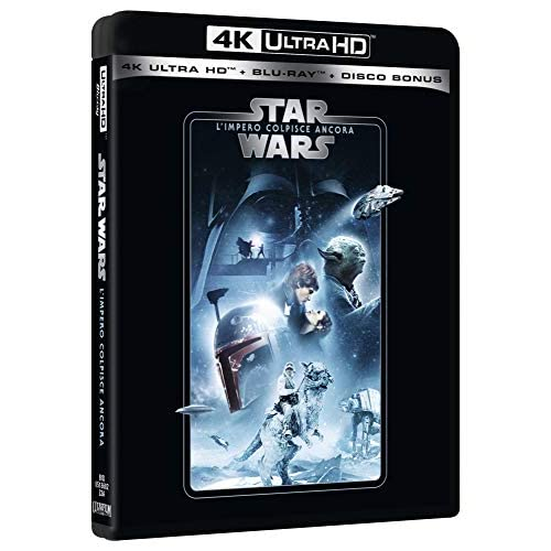Star Wars 5 L'Impero Colpisce Ancora Uhd 4K  (3 Blu Ray)